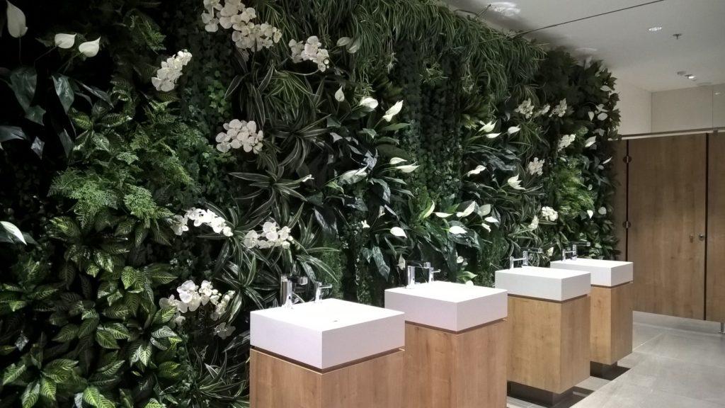 Mur végétal en plantes artificielles et Orchidées artificielles